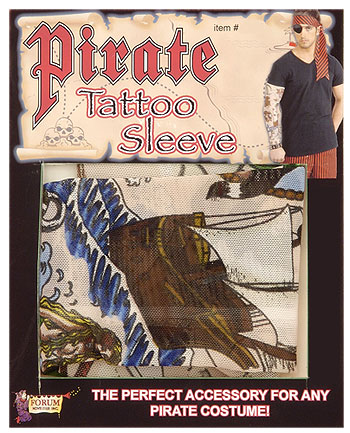 Show off your pirate tattoos this Halloween with this pirate tattoo sleeve.