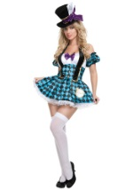 Sexy Checkerboard Mad Hatter Costume