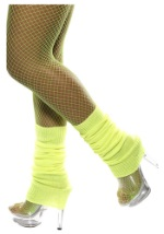 Yellow Neon Leg Warmers