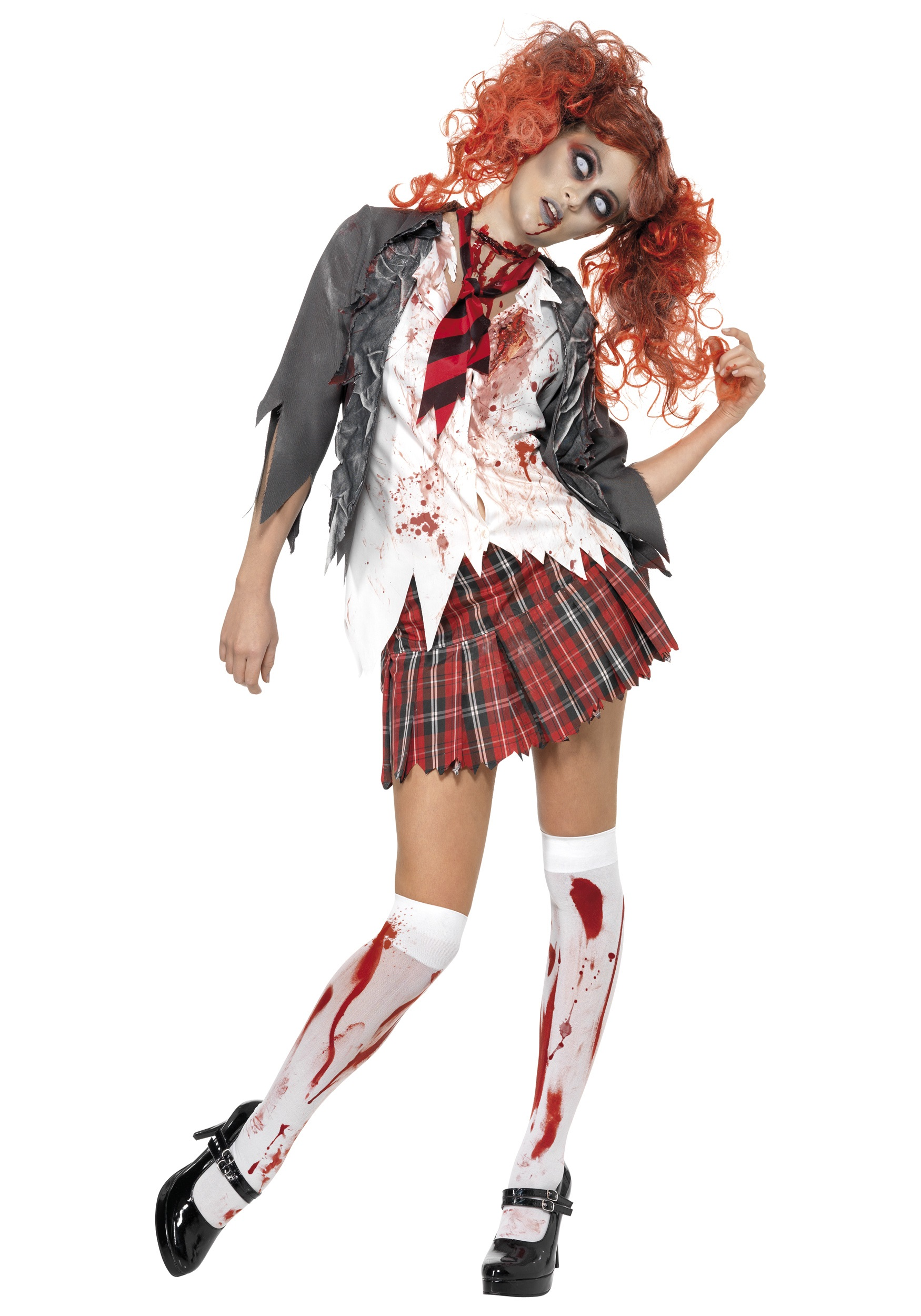 scary school girl zombie costume scary school girl halloween costumes. Black Bedroom Furniture Sets. Home Design Ideas