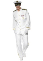 Mens Deluxe Naval Captain Costume