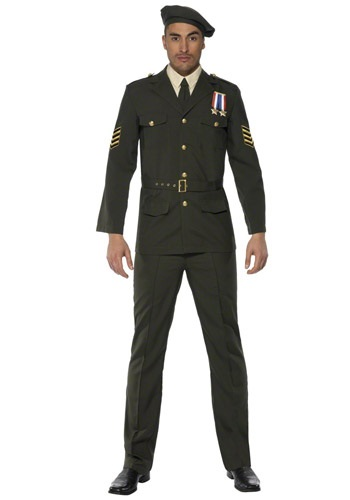 Mens Military Wartime Officer Costume