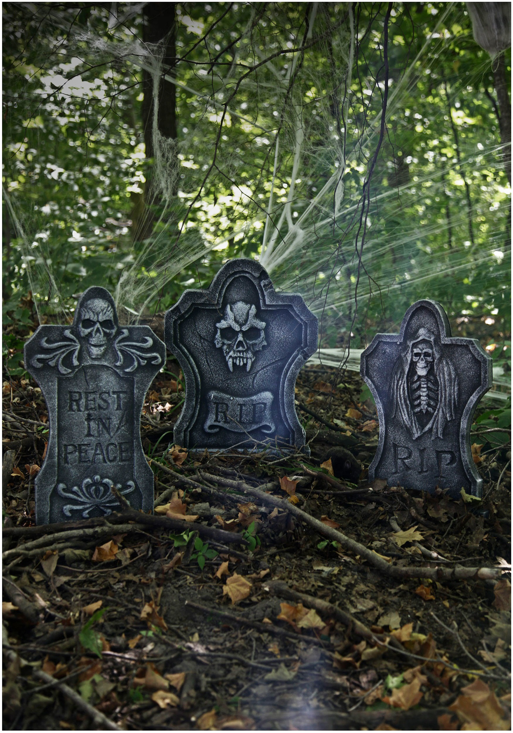 three piece gravestone kit - outdoor graveyard decorations