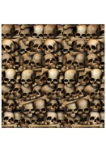 Wall of Skulls Catacombs Backdrop