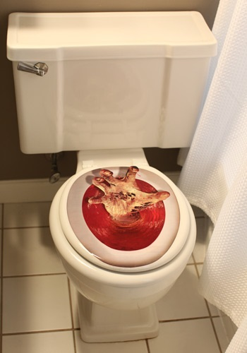 Zombie Hand Toilet Topper