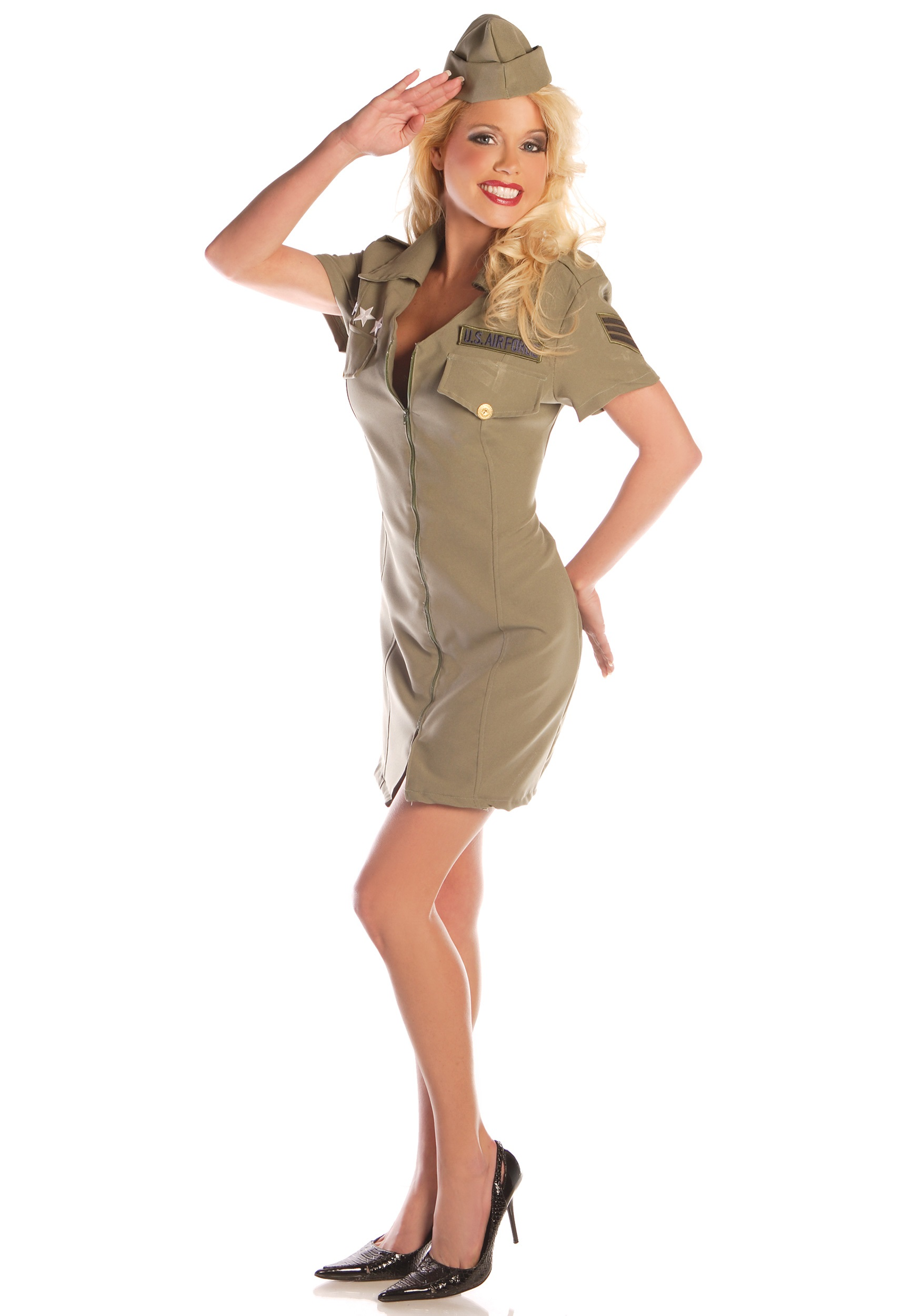 Sexy Fly Girl Military Costume - Vintage Air Force ...