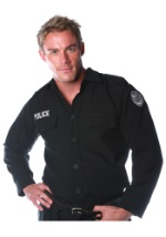 Men's Black Police Shirt
