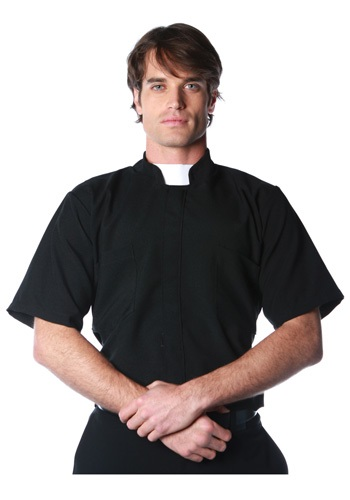 Plus Size Mens Priest Shirt