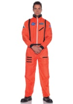 Mens Realistic Orange Astronaut Costume