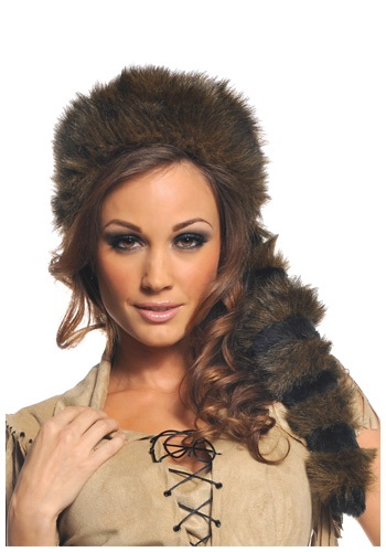 Wild Frontier Raccoon Tail Hat