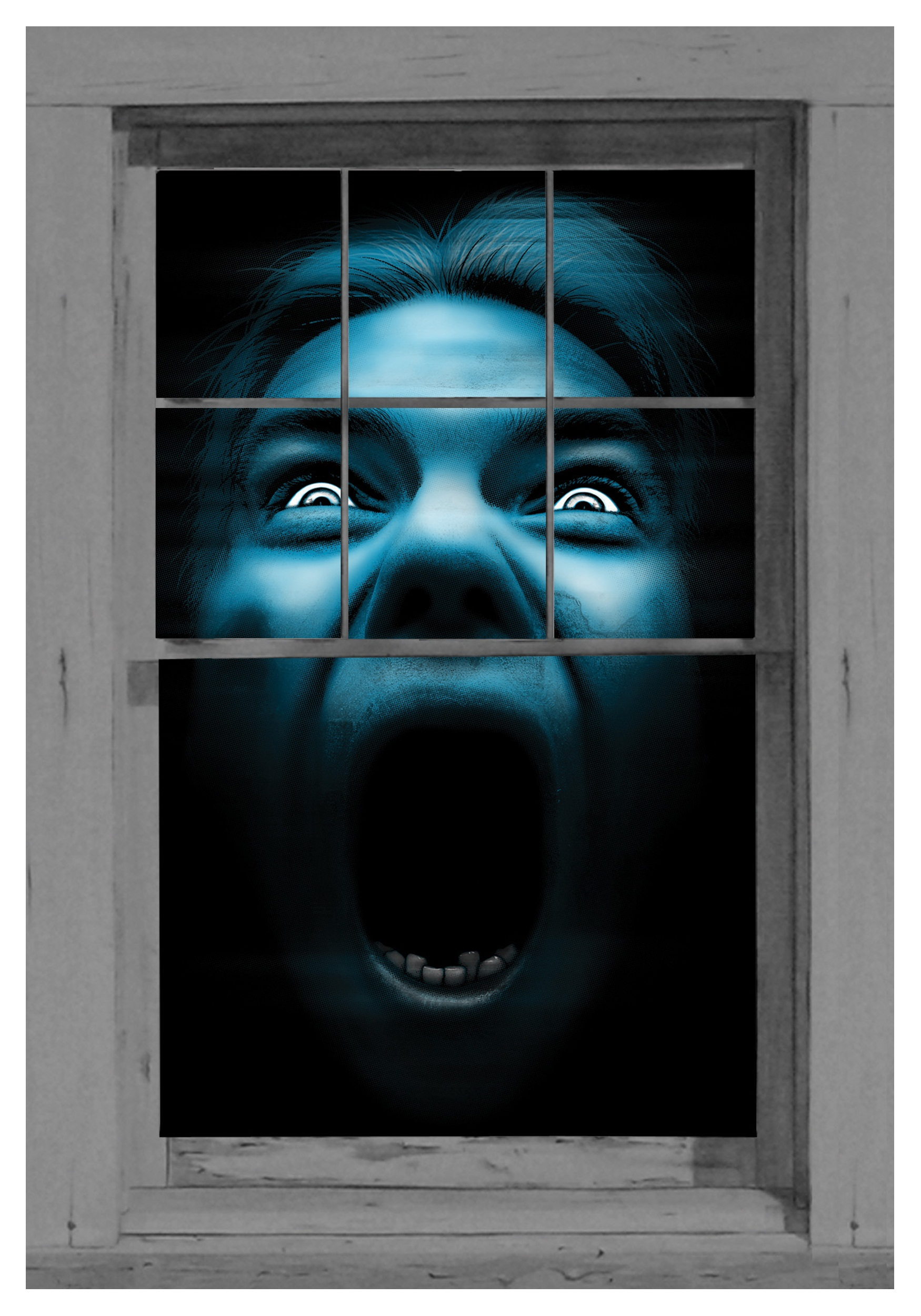 Silent Scream Window Cling Scary Window Decorations