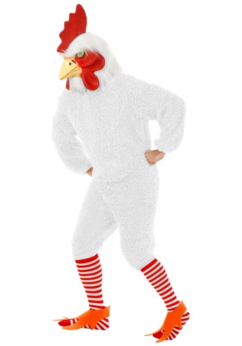 White Rooster Costume For Adults