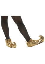 Gold Curled Toe Genie Shoes