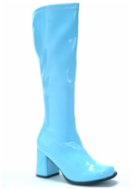 Adult Groovy Blue Gogo Boots
