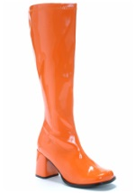 Adult Groovy Orange Gogo Boots