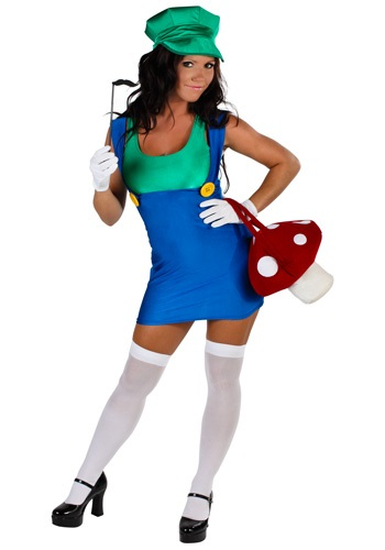 Plus Size Green Sexy Plumber Costume