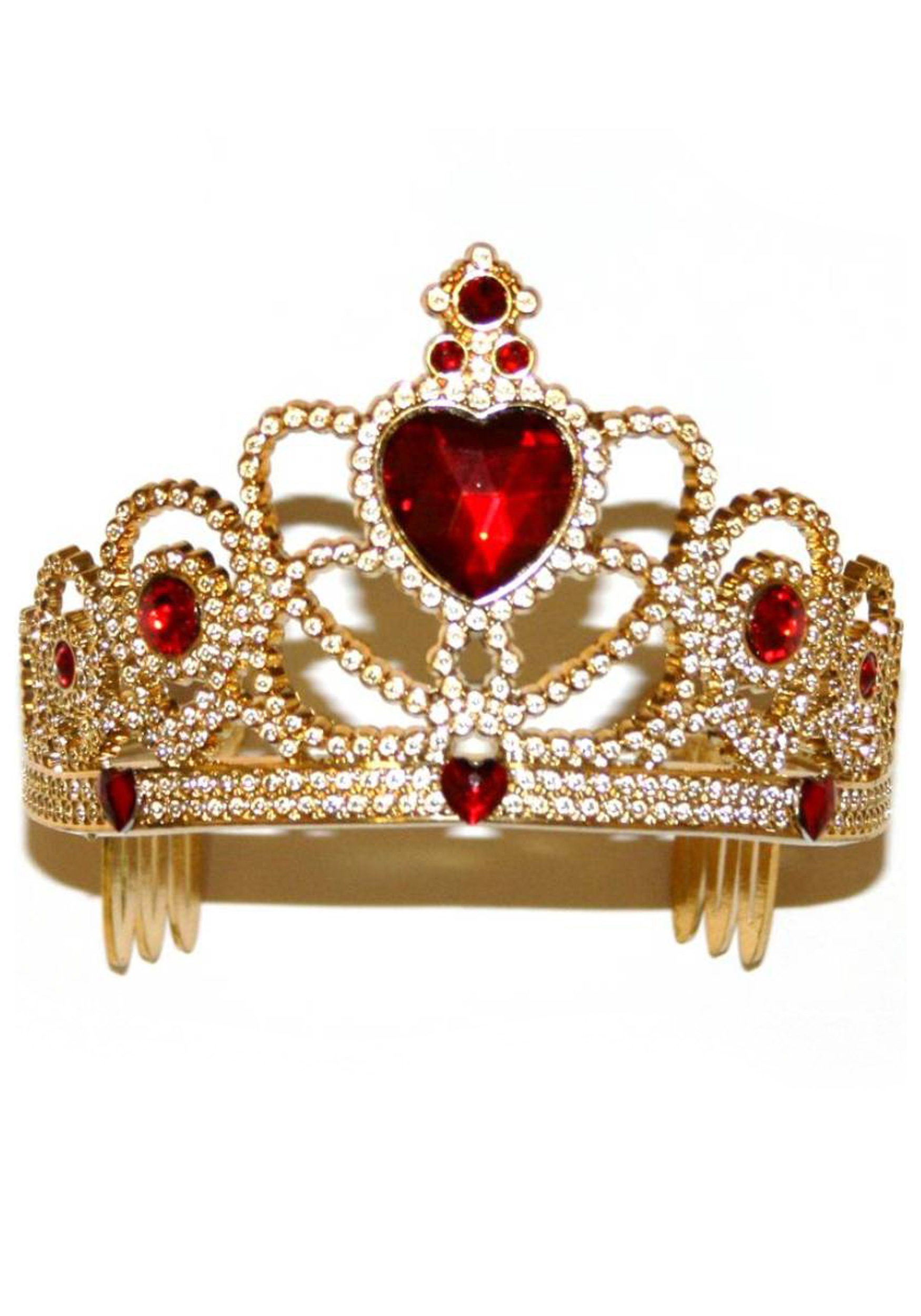 King Queen Crown Gold Silver Plastic Costume Accessories