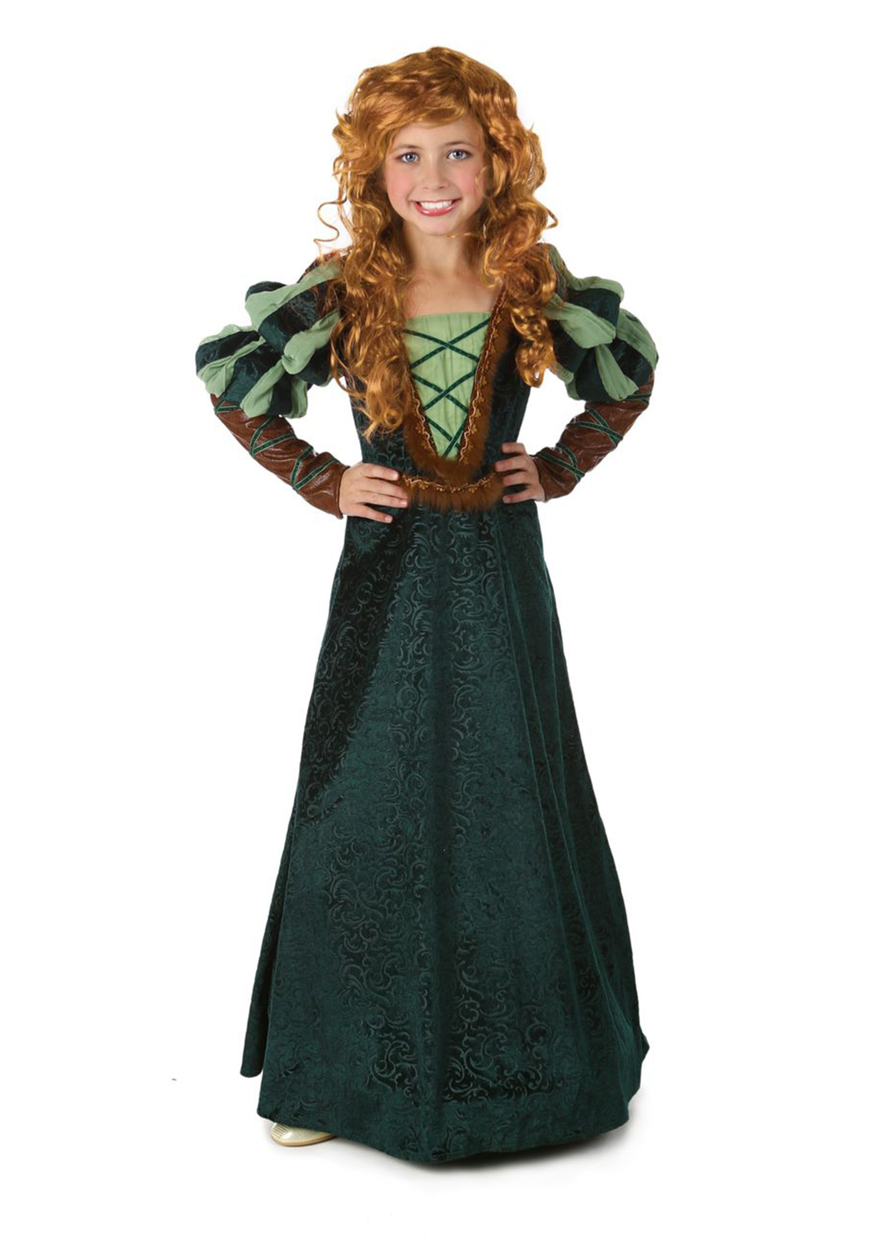 girls courageous forest princess costume - renaissance costume