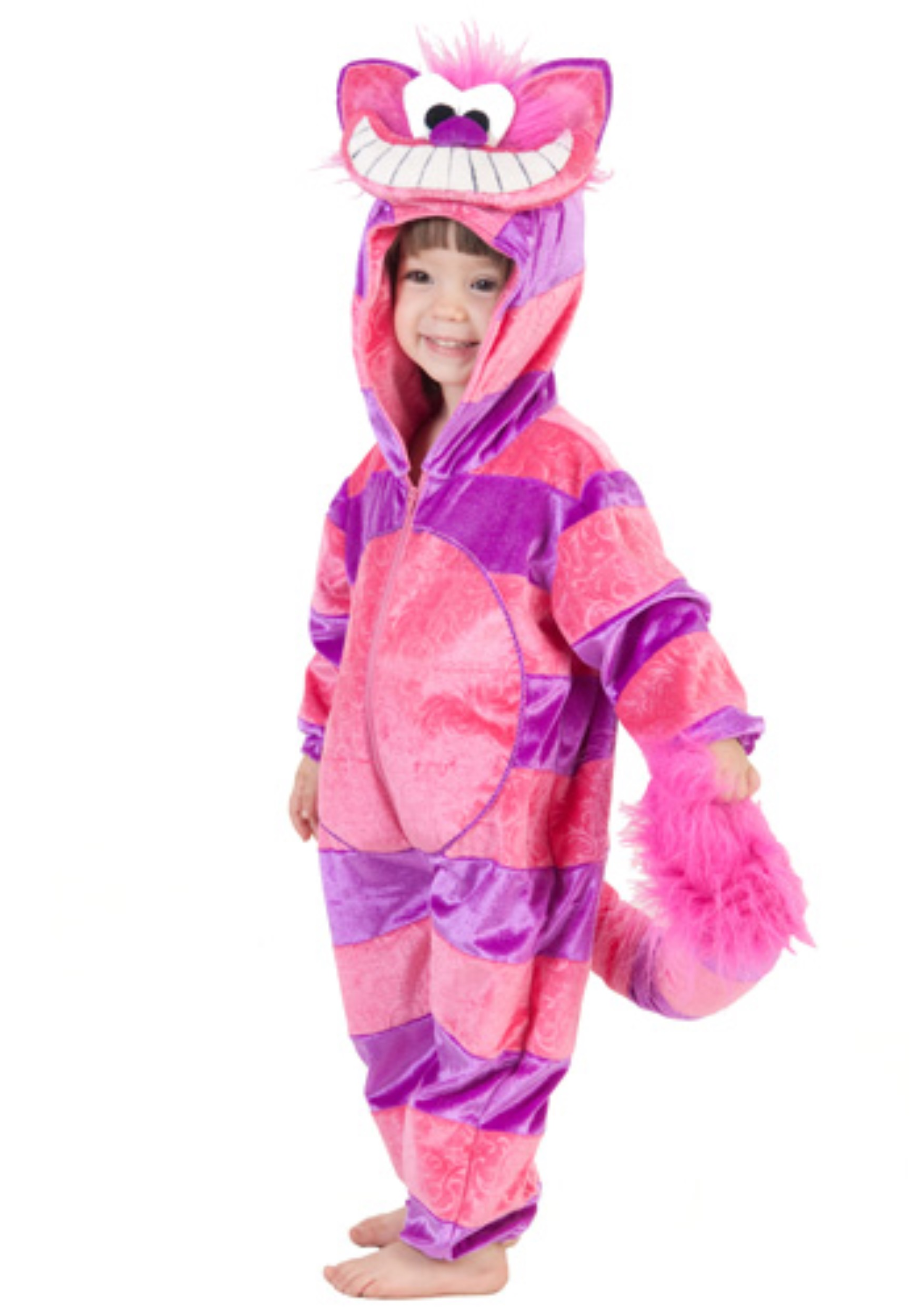 Alice In Wonderland Halloween Costumes Kids.Cheshire Cat Jumpsuit For Toddlers