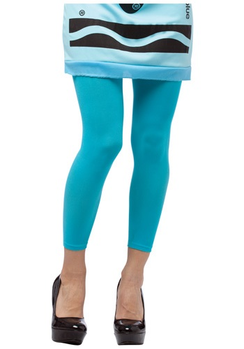 Ladies Crayon Leggings In Sky Blue