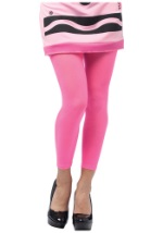 Ladies Crayon Leggings In Tickle Me Pink