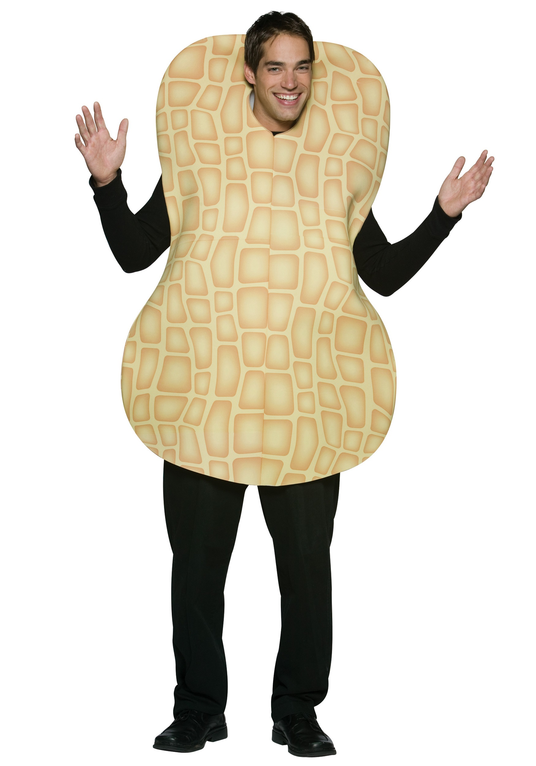 adult peanut in the shell costume - funny snack costumes for adults
