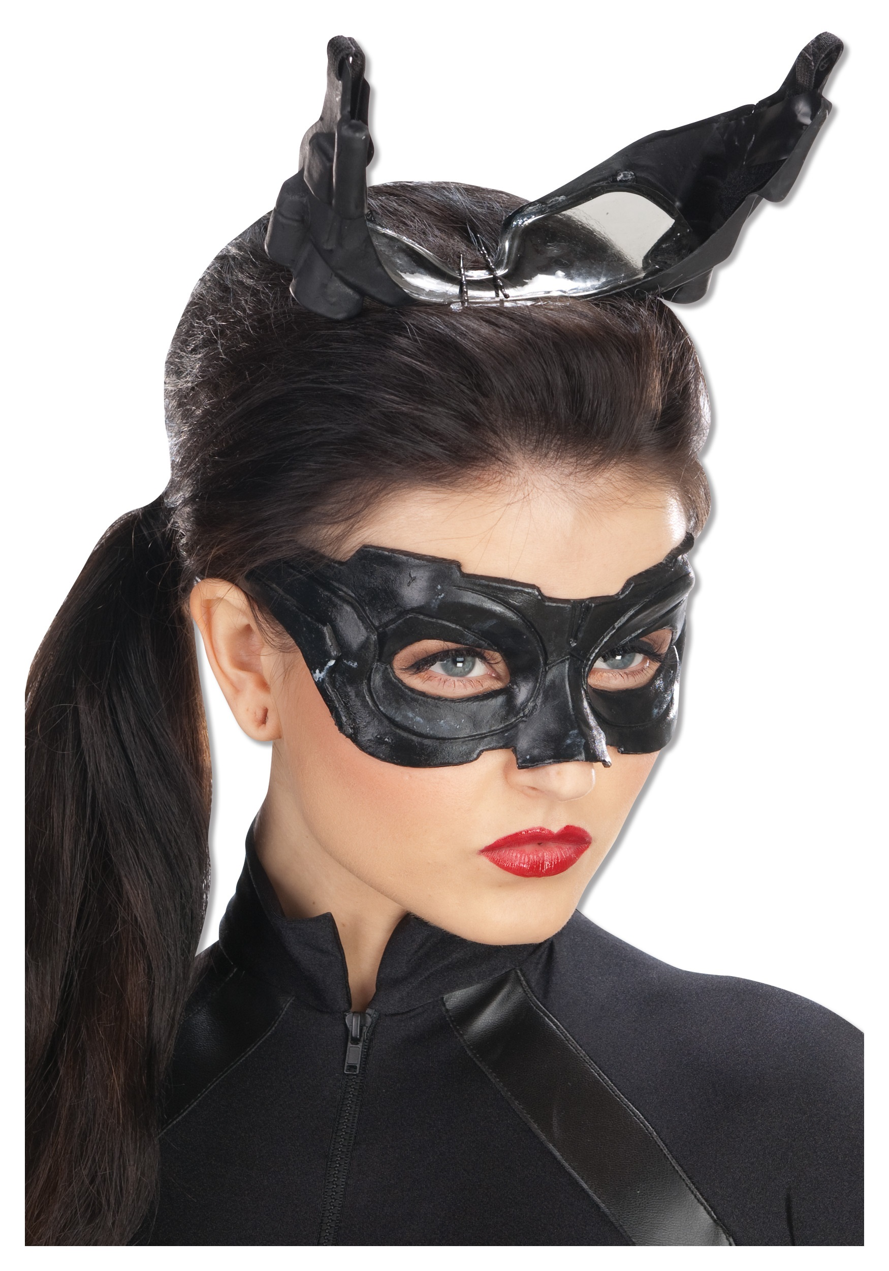 Deluxe Dark Knight Catwoman Mask  sc 1 st  Halloween Costume Ideas & Deluxe Dark Knight Catwoman Mask - Dark Knight Rises Catwoman Accessory