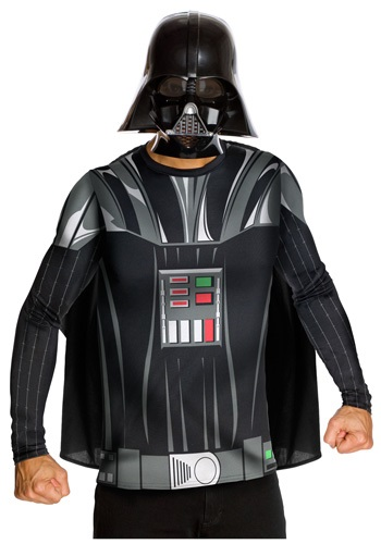 Darth Vader Mens Top and Mask
