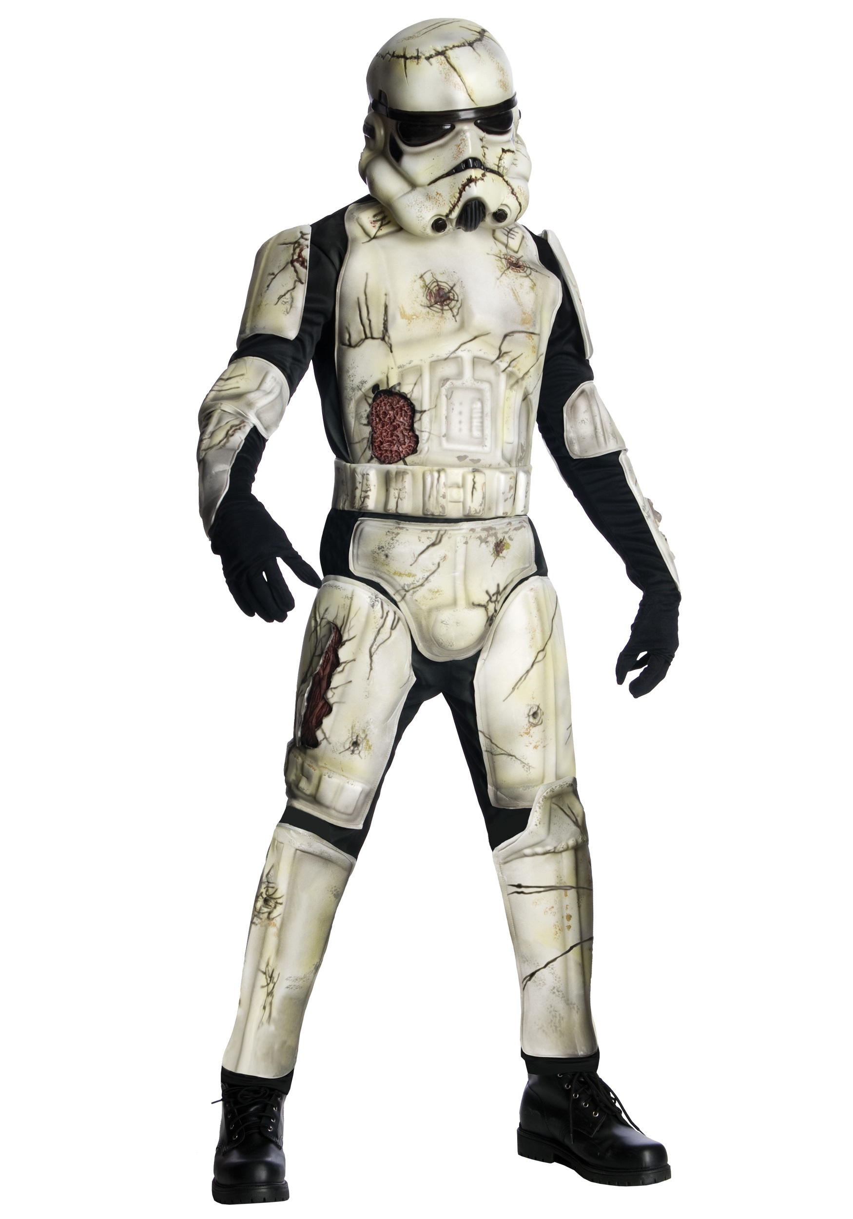 deluxe death trooper adult costume - men's scary star wars costume ideas