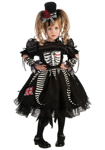 Girls Gothic Skeleton Costume