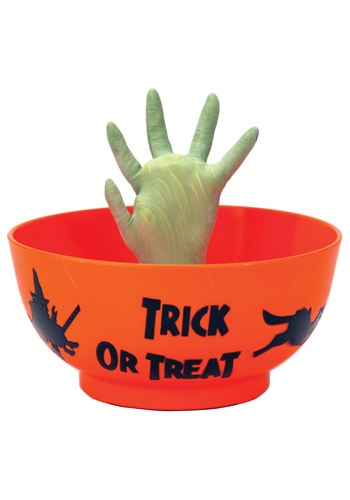 Treat Bowl With Animated Monster Hand