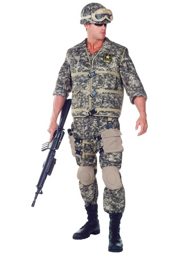 Deluxe Plus Size Mens U.S. Army Ranger Costume