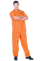 Plus Size Public Offender Prison Inmate Costume