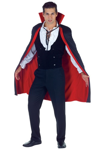 Black and Red Gothic High Collar Cape
