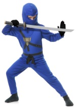 Blue Ninja Master Child Costume