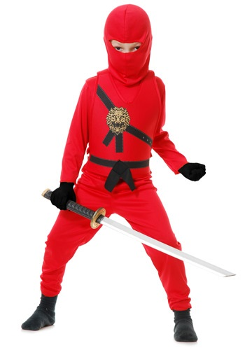 Red Ninja Master Child Costume