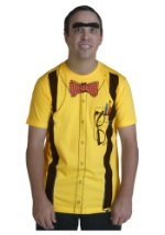 Classic Nerd Yellow T-Shirt Costume For Men