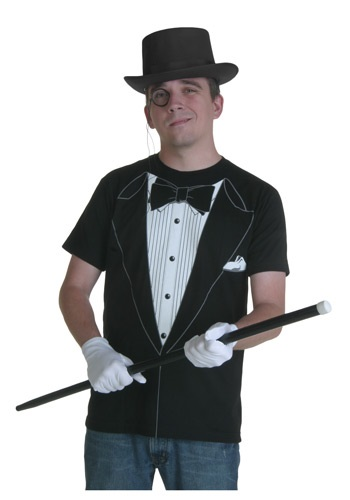 Black Tuxedo T-Shirt Costume For Men