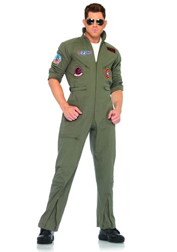 Mens Plus Size Top Gun Flight Suit