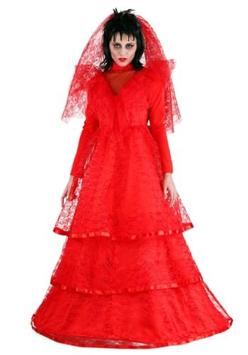 Womens Red Gothic Wedding Dress