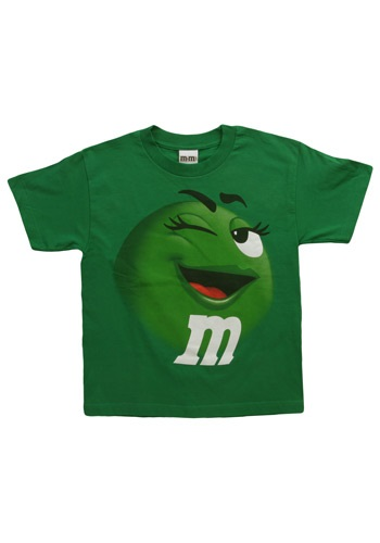 Green M&M Jumbo T-Shirt For Kids