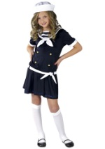 Girls Sweet Navy Sailor Costume