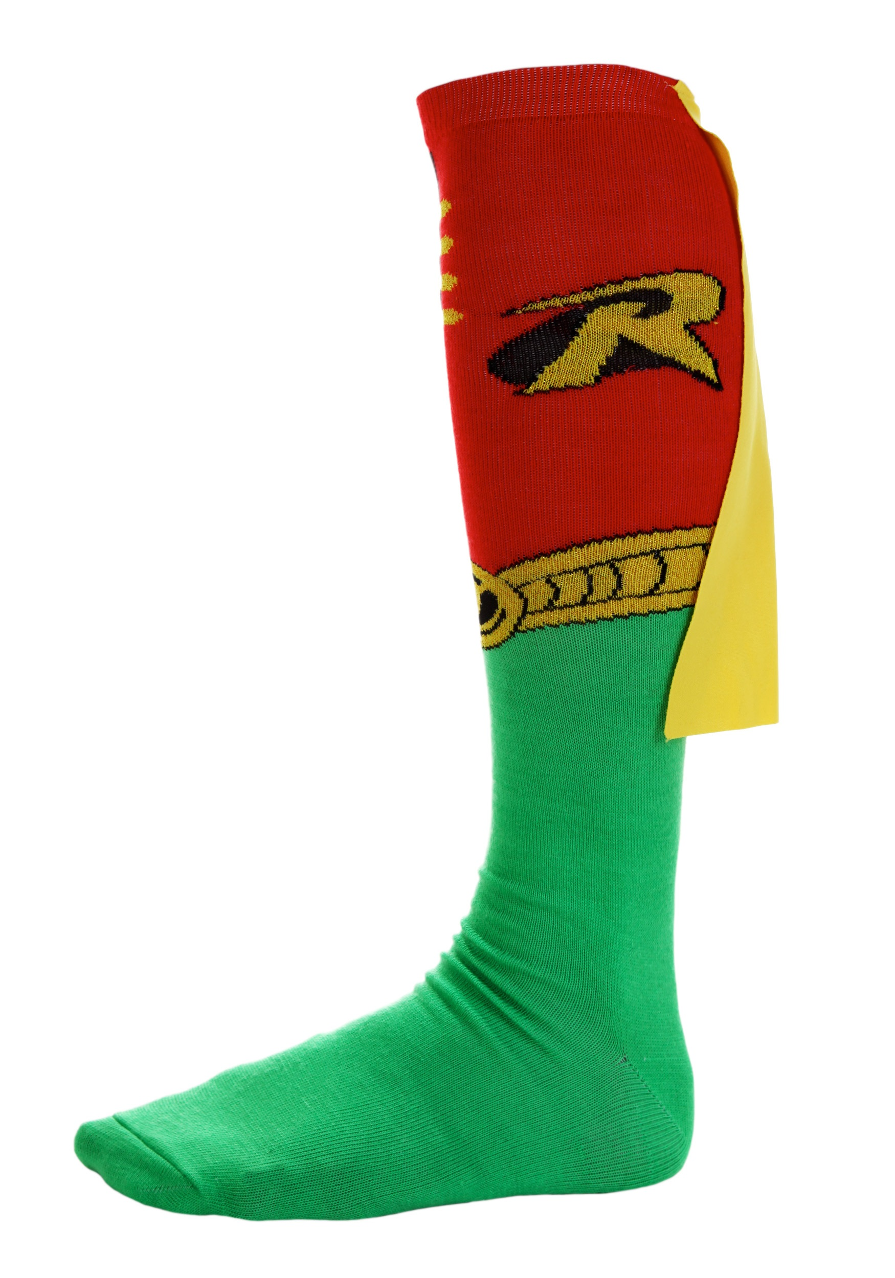 f4de8a1c560 Robin Knee-High Cape Socks - Adult Robin Costume Accessory