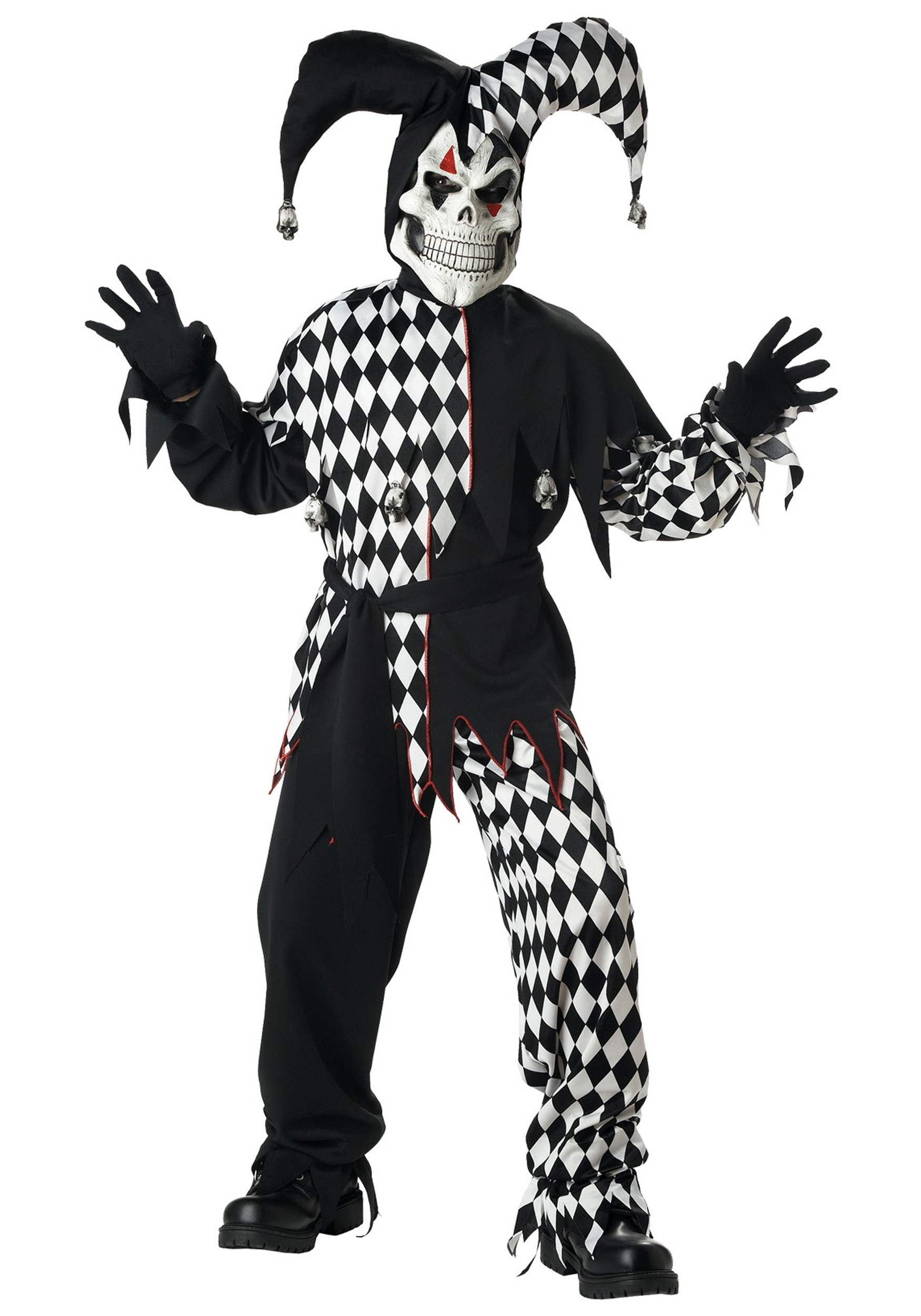 Scary Halloween Costume Ideas For Kids.Kids Evil Jester Costume