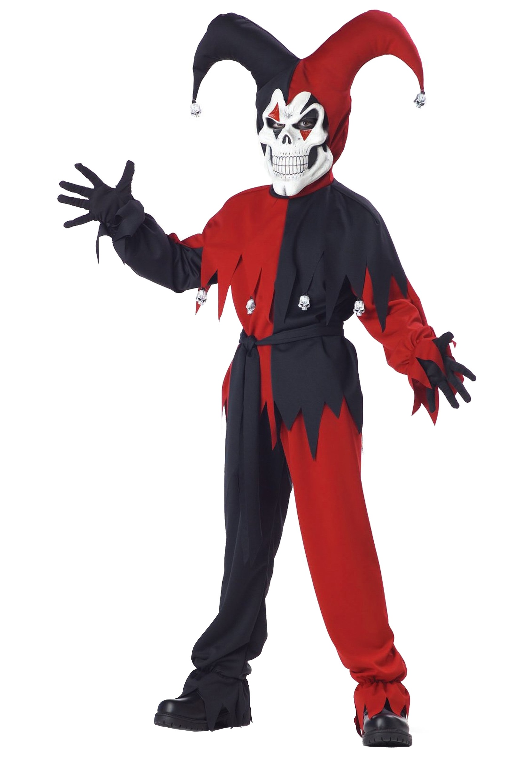 Child Scary Jester Costume - Boys Scary Halloween Costumes