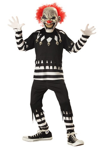 Kids Scary Psycho Clown Costume