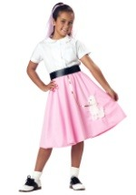 Child Pink Poodle Skirt