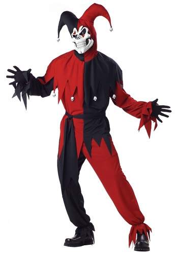 Adult Scary Jester Costume