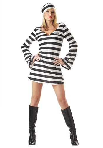 Women's Convict Halloween Costume