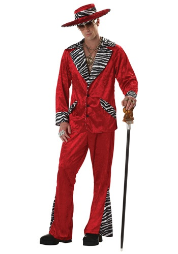 Retro Red Pimp Costume
